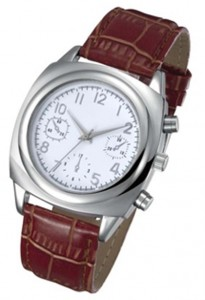 GP006 Alloy Case with PU Leather Strap, Japan Quartz Movement.
